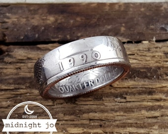 1990 Coin Ring - 1990 Quarter Ring - Double Sided Coin Ring - 1990 Ring - 1990 Jewelry - Birthday Gift for Her - Anniversary Gift for Him