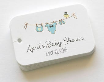Baby Shower Tags, Baby Shower Tags, Baby Boy Favor Tags, Favor Tags (RR-034)