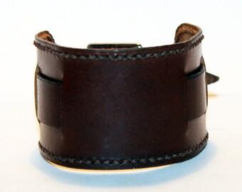 Brown Leather Cuffes! Brown Women Rocker Bracelet! Great Gift For Women! Brown Cuff! Brown Bracelet!