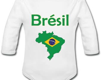 Brazil map Bodysuit - personalized name option
