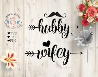 hubby wifey svg, marriage svg, couple svg, husband svg, wife svg, svg mug design, decal design, svg design, wedding svg, love svg, svg files