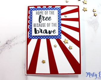 Patriotic Card - Happy 4th Card - Fourth of July Card
