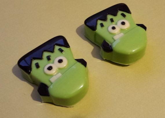 One dozen Frankenstein theme chocolate covered sandwich cookie party favor