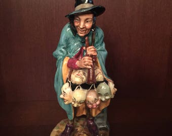 "Vintage 1952 Royal Doulton ""The mask seller"" , H.N. 2103 , limited and retired, made in England, collection, Doulton & Co,"