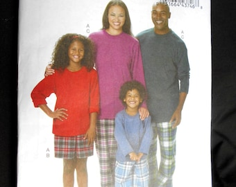 Butterick 5572 Top, Shorts and Pants Adult Sizes (Small to X-large)