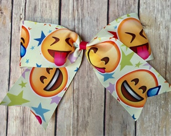 Emoji Cheer Bow YOU PICK