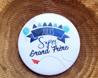 """""""Great big brother"""" to personalize badge"""