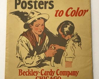 Vintage (1928) Educational Aid - Good Citizenship Posters to Color - Wonderful Vintage Drawings of Children