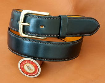 Hand made and stitched leather Belt (38 mm)