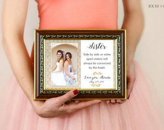 Sisters Wedding Gift, Maid Of Honor Gift, Matron Of Honor Gift, Bridesmaid Gift, Personalized Picture Frame