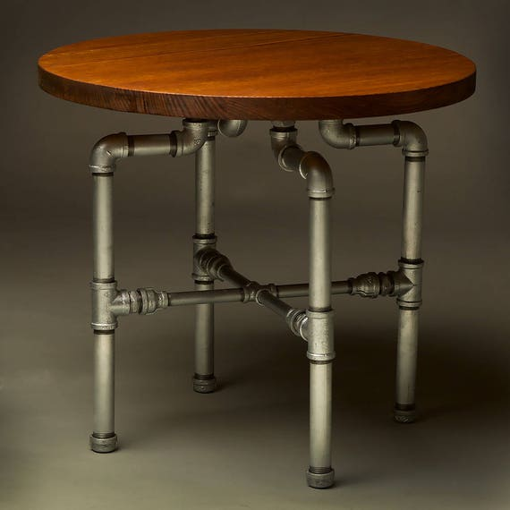 Etsy Round Coffee Tables: Round Plumbing Pipe Coffee Table