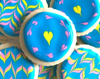 One Dozen Assorted Decorated Cookies