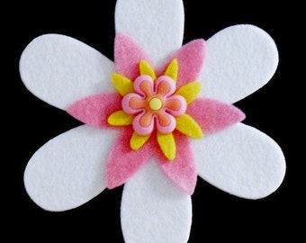 Interchangeable Large Funky Felt Flowers