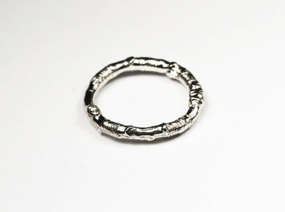 McCarren Park Sterling Silver Twig Ring --closed circle_READY TO SHIP.