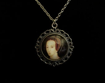 Anne Boleyn Queen of England 1533 to 1536 Pendant Necklace 24 inch King Henry VIII