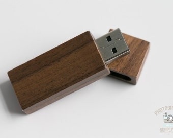 Wood/Wooden Mahogany USB 2.0 / USB 3.0 Flash Drive 4GB Capacity with Magnet Top