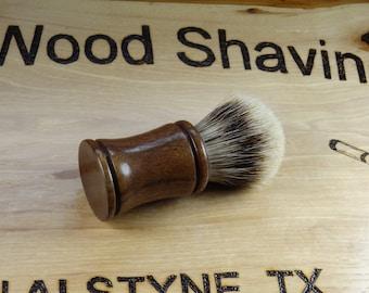 Handmade Black Walnut High Mountain White Badger Shave Brush