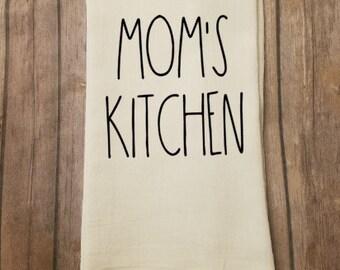 Flour Sack Dish Towel / Tea Towel / Rae Dunn / Farmhouse / Rustic / Kitchen Decor / Mom's Kitchen / Mother's Day