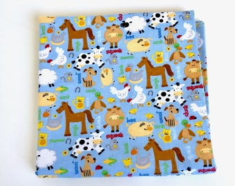 Flannel Receiving Blanket, Blue Swaddling blanket, New baby essentials, Cute boy receiving blanket, nursery baby gift.