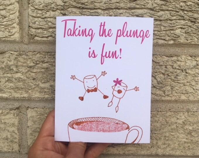 Taking the Plunge, Wedding Card, Funny Wedding Card, Wedding Shower Gift, Bridal Shower, Funny Wedding Gift, Cute Wedding Card, Anniversary