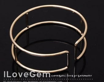NP-1280 Gold plated over Brass, Bangle, 1pc