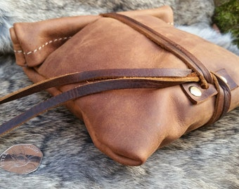 NEW! Oiled Roll Top Utility Pouch - Size 2