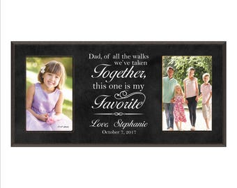 "Personalized Dad Wedding Gift, ""Dad, of all the walks we've taken together, this one is my Favorite"" Parents Wedding Gift, Dad Photo Frame"