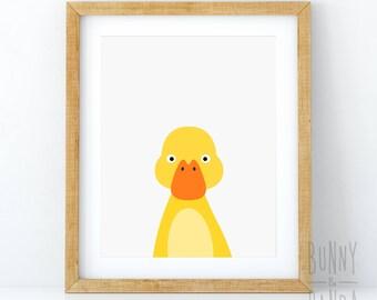 Duckling Print, Nursery Art, Baby Animal Wall Art, Duckling Illustration, Duck Print, Nursery Decor, Nursery Printable, Baby Duckling, Kids