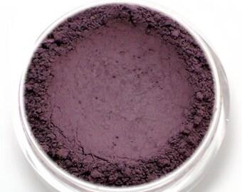 "Matte Dark Purple Eyeshadow - ""Belladonna"" - eggplant/aubergine Vegan Mineral Eyeshadow Net Wt 2g Mineral Makeup Eyeliner"