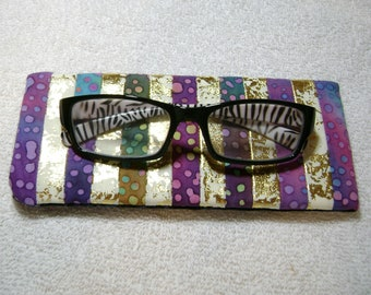 Fabric Eyeglass Case - Quilted Eyeglass Case - Glass Case - Batik Fabric Case - Sunglass - Handmade Case - EGC8