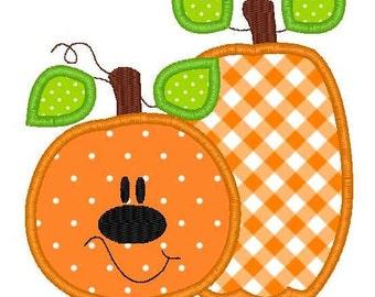 Halloween Pumpkins Machine Embroidery Applique Design