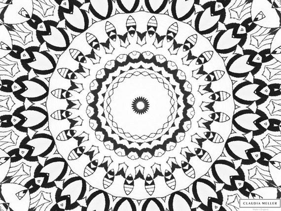 Färbung ausdrucken digitale Seite für Erwachsene geometrische