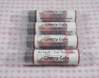 Lip Balm, Cherry Cola Flavored Lip Stuff - .15oz Tube Of Lip Balm, Handmade Lip Balm, Natural Lip Balm, Flavored Lip Balm