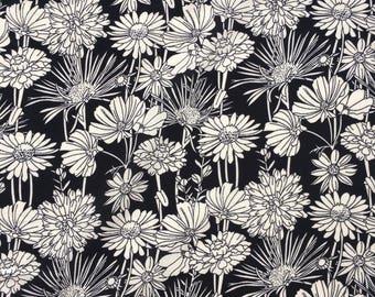 White Chrysanthemums Crepe fabric