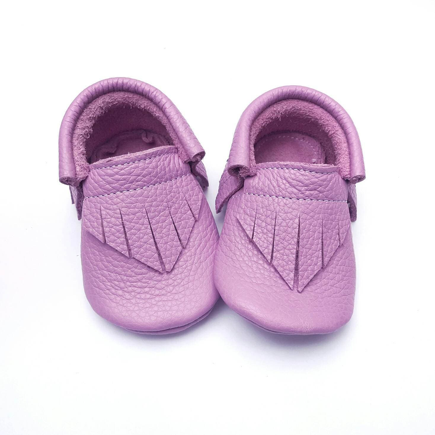 Baby Girl Shoes Taffy Purple Moccs baby shoes baby moccs
