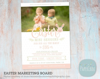 Easter Mini Sessions Photography Marketing Board - Photoshop Template - IE005 - INSTANT DOWNLOAD