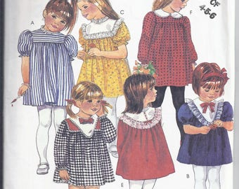 McCall's2635 Sewing Pattern from 1986.  Easy Pattern Toddler Yoked Dress  Breast 23-25.  UNCUT