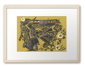 Tamar Tales, signed and framed print