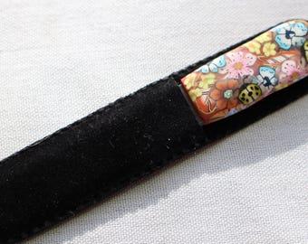 Small Glass Nail File Ladybug Design