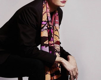ARTUMA BRANCHES – luxurious, limited edition, silk scarf