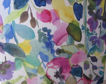 Grand Floral fabric Panel