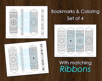 Bookmark Coloring Mandala Bookmark DIY Bookmark Custom bookmark Printable bookmark Coloring Custom bookmark Mandala Planner Bookmark Mandala
