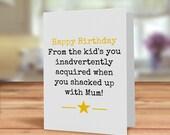 Step parent card, step fa...