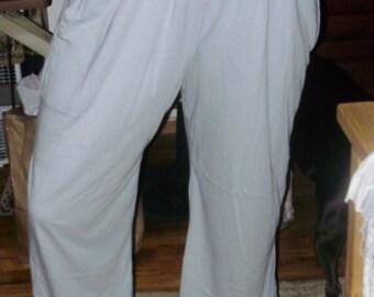 Patio/Harem Pant 100%Cotton Tie at Ankle