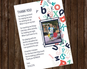 Personalized Teacher Thank You