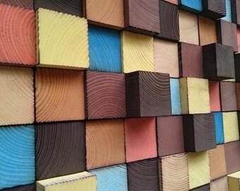 Wall Art - Wood Wall Decor - Mosaic