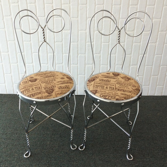 Charmant Chrome Wire Ice Cream Parlor Chairs/Soda Shop Chairs
