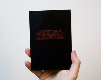 Stranger Things Christmas Card | Stranger Things Card | Merry Christmas Card | Xmas Card