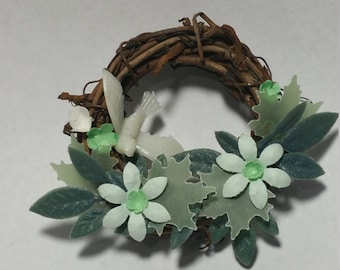 "1:12 Scale Wreath ""C"", Miniature Wreath"