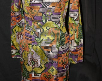 Maxi dress from the '70's with reversible vest